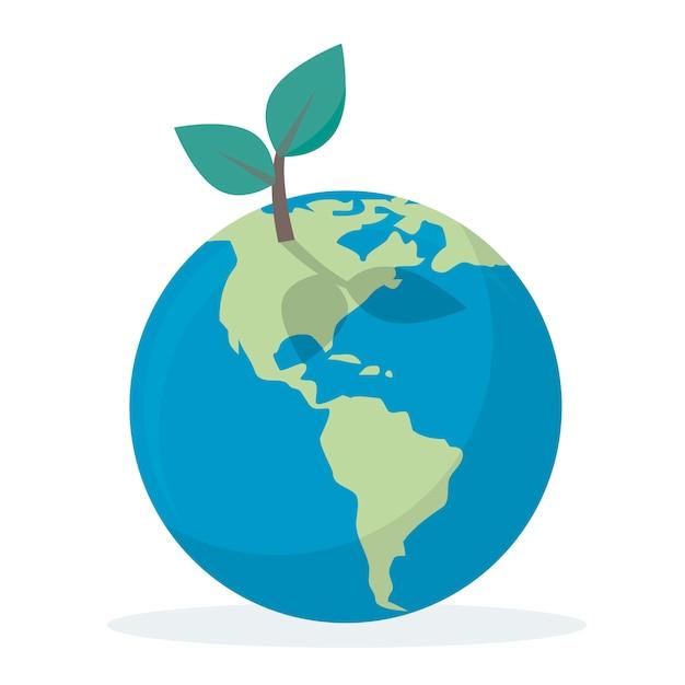Milieubehoud en bescherming van onze wereld Gratis Vector