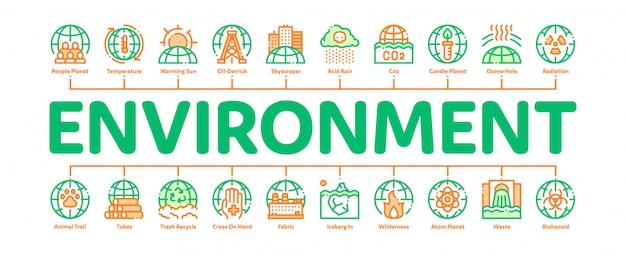 Milieuproblemen banner Premium Vector