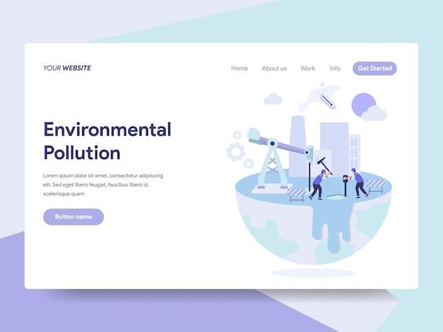 Milieuverontreiniging illustratie Premium Vector