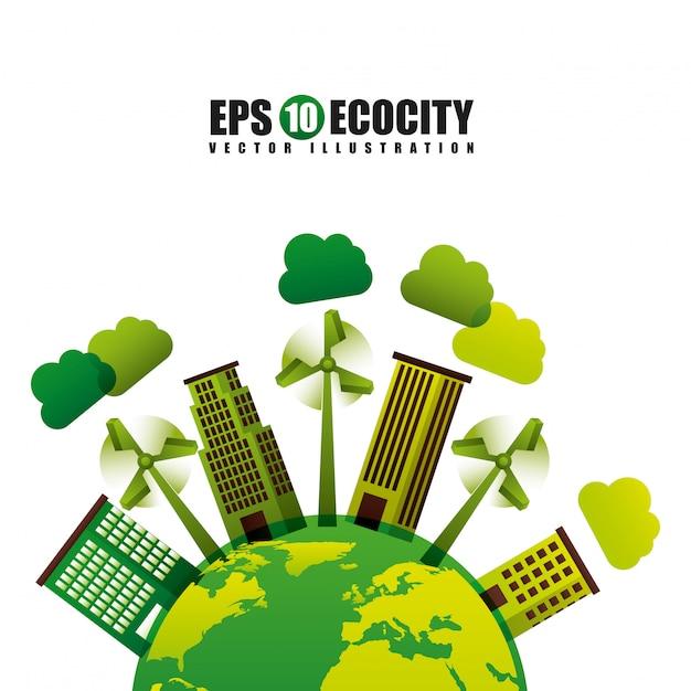 Milieuvriendelijk Premium Vector