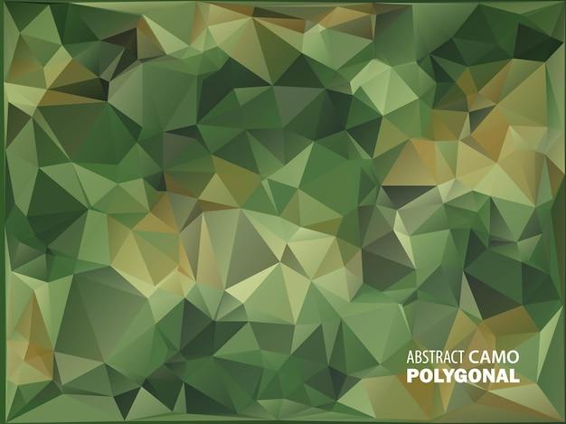 Militair leger. camouflage achtergrond. gemaakt van geometrische driehoeken vormen. leger illustratie. veelhoekige stijl. Premium Vector