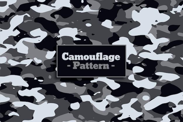Militair militair camouflagepatroon in witte en grijze schaduw Gratis Vector