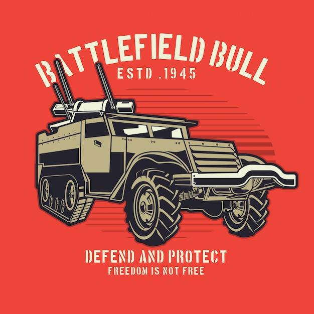 Militair vrachtwagenpistool Premium Vector