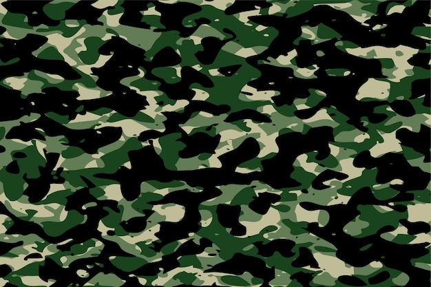 Militaire camouflage leger stof textuur achtergrond Gratis Vector