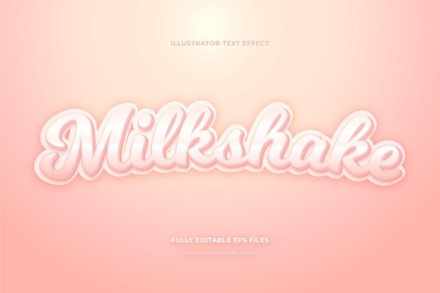 Milkshake met teksteffect Gratis Vector
