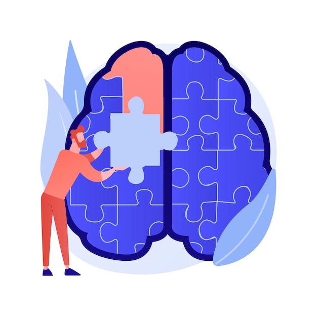 Mindfulness abstract begrip vectorillustratie. mindful mediteren, mentale rust en zelfbewustzijn, focussen en stress loslaten, angst alternatieve thuisbehandeling abstracte metafoor. Gratis Vector
