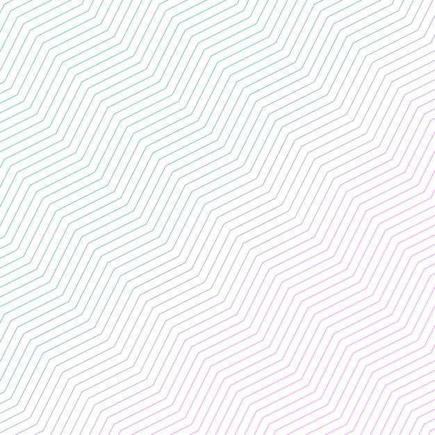 Minimaal diagonaal zigzagpatroonontwerp Gratis Vector