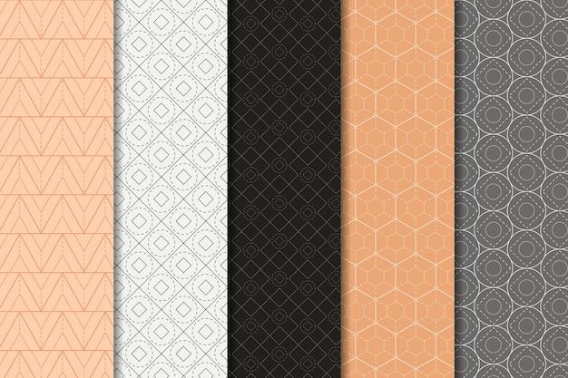 Minimaal geometrisch patroon Gratis Vector