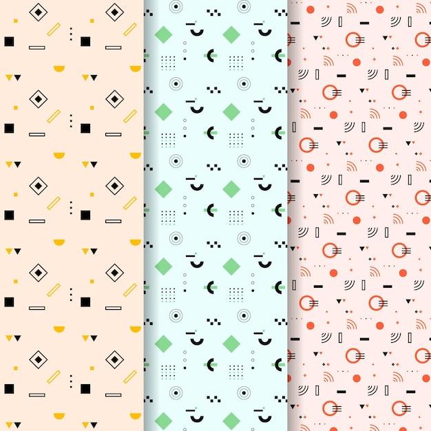 Minimaal geometrisch patrooncollectiethema Gratis Vector