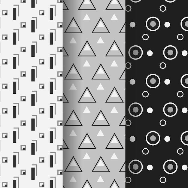 Minimaal geometrisch patroonpakket Gratis Vector