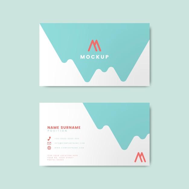 Minimaal modern visitekaartjeontwerp die geometrische elementen kenmerken Gratis Vector