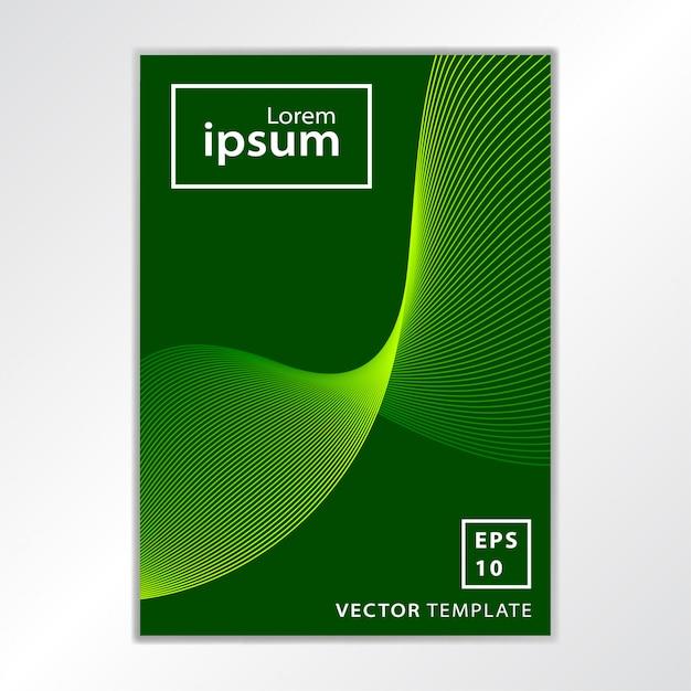 Minimaal zakelijk brochure-omslagontwerp Premium Vector
