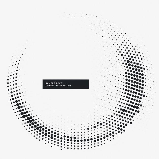 minimal halftone cirkel frame achtergrond Gratis Vector
