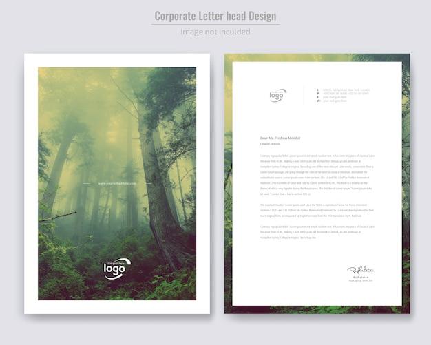 Minimal letterhead design Premium Vector