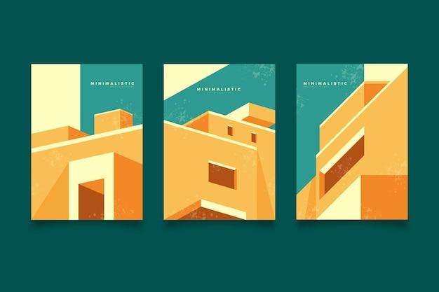 Minimale architectuur omvat sjabloon Gratis Vector