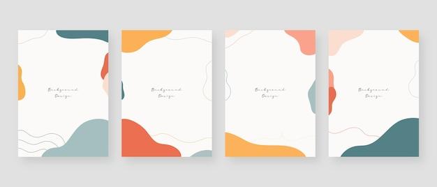 Minimale concept achtergrond. abstracte achtergronden van memphis met kopie ruimte voor tekst. Premium Vector