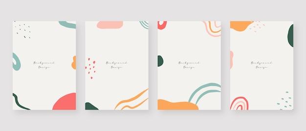 Minimale concept achtergrond abstracte achtergronden van memphis met kopie ruimte voor tekst Premium Vector