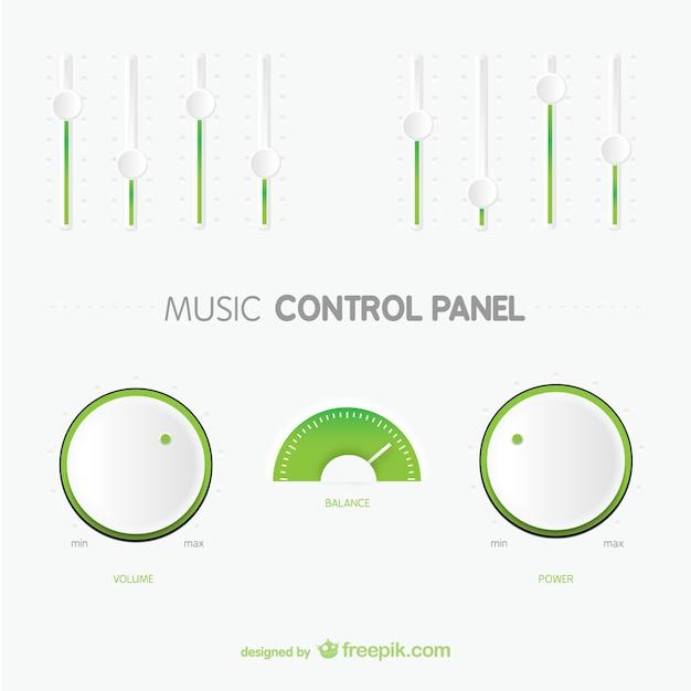 Minimale control panel Gratis Vector