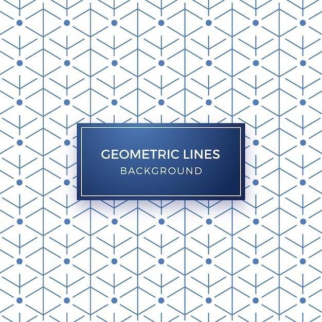 Minimale geometrische lijnpatroon achtergrond Gratis Vector