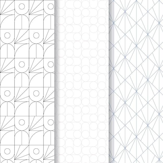 Minimale geometrische naadloze patroon sjabloon Gratis Vector