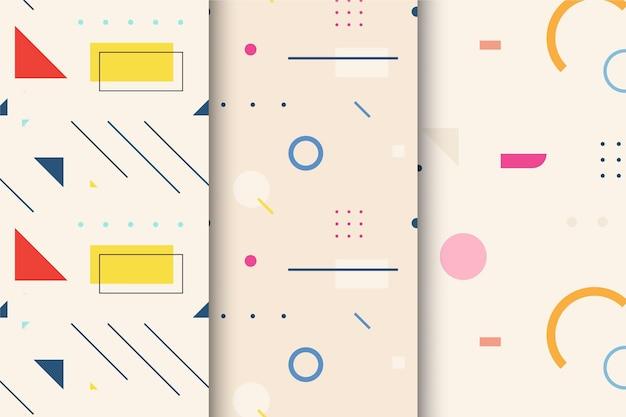 Minimale geometrische patroon set Gratis Vector