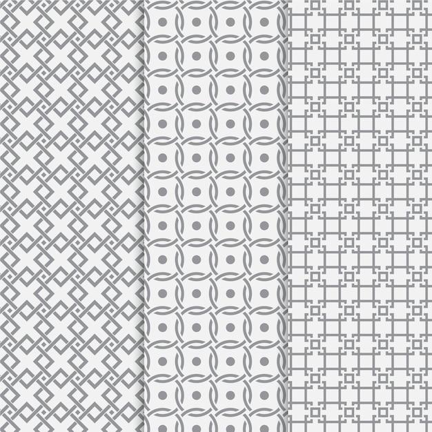 Minimale geometrische patrooncollectie Gratis Vector