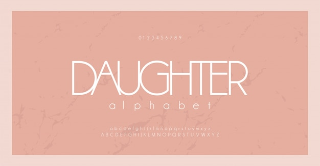 Minimale lettertype creatieve moderne minimale alfabet set Premium Vector