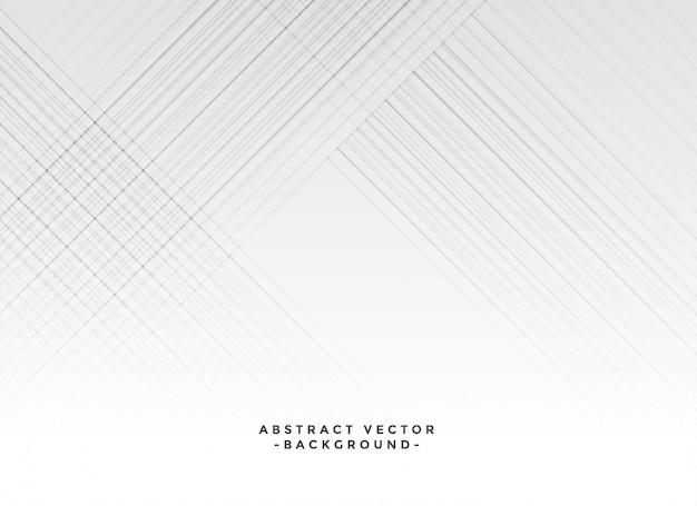 Minimale lijnen elegante witte achtergrond Gratis Vector