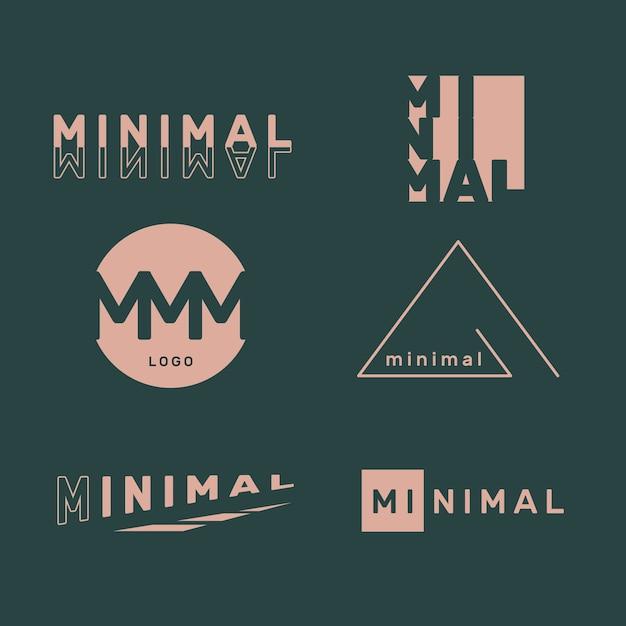 Minimale logo-collectie in twee kleuren Gratis Vector