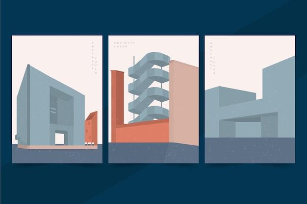 Minimale sjabloonarchitectuur omvat collectie Gratis Vector