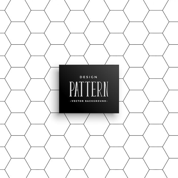 Minimale zeshoekige lijn patroon achtergrond Gratis Vector