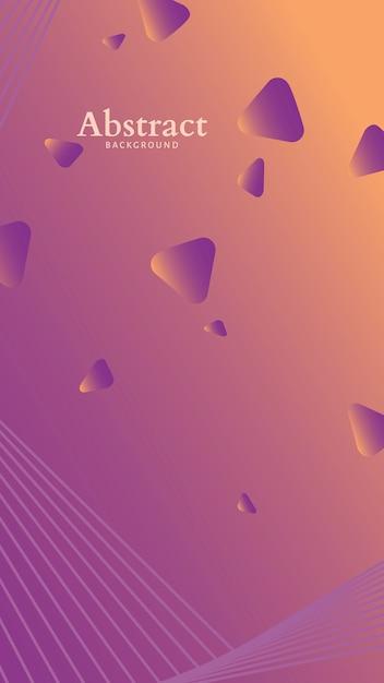 Minimalistisch abstract patroon Gratis Vector
