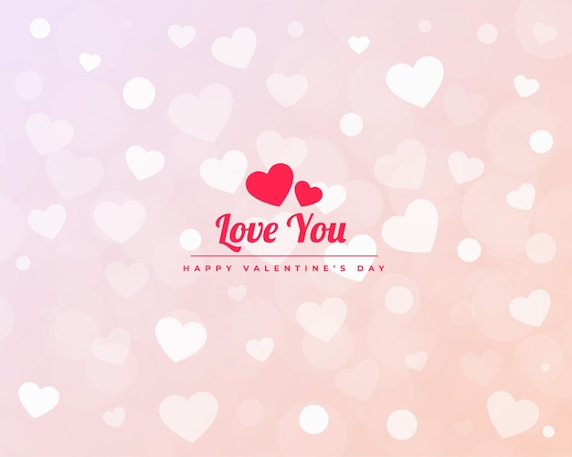 Minimalistisch valentijnsdag harten patroon baner ontwerp Gratis Vector