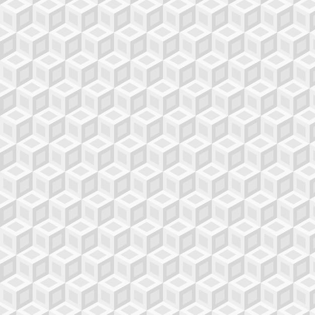 Minimalistisch wit patroon met kubussen Gratis Vector