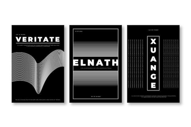 Minimalistisch zwart en wit coversontwerp Gratis Vector