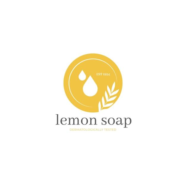 Minimalistische citroenzeep logo sjabloon Gratis Vector