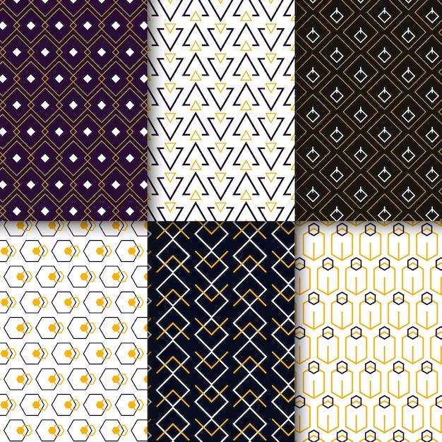 Minimalistische geometrische patrooncollectie Gratis Vector