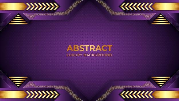 Minimalistische paarse achtergrond met kleurovergang met vormen abstracte luxe achtergronden Premium Vector