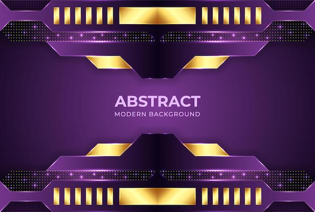 Minimalistische paarse achtergrond met kleurovergang met vormen abstracte moderne achtergronden Premium Vector