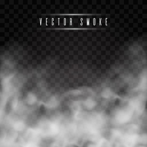 Mist of rook geïsoleerd transparant speciaal effect. Premium Vector