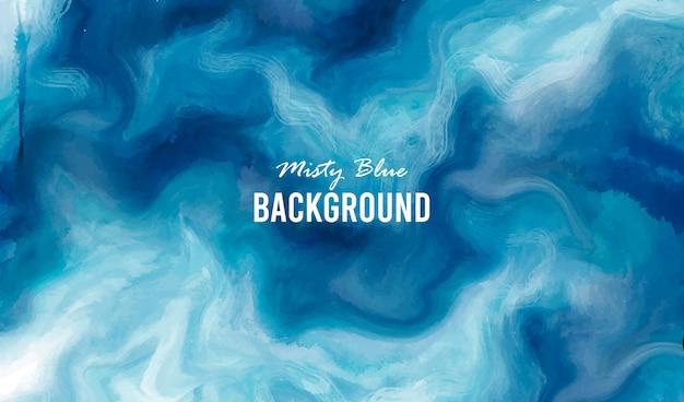 Misty blauwe achtergrond Gratis Vector
