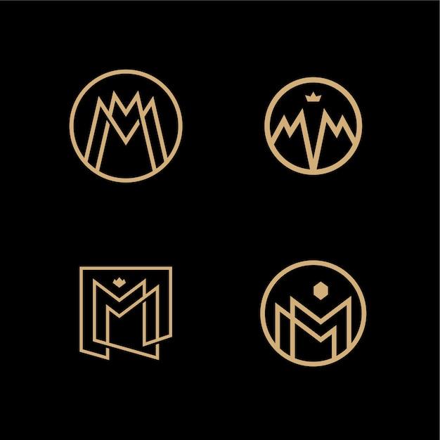 Mm Lettermarkering Monogram Cirkel Rond Logo Vector Vector
