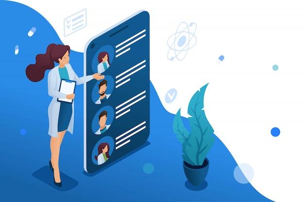 Mobiele app om artsen bij u in de buurt te zoeken Premium Vector