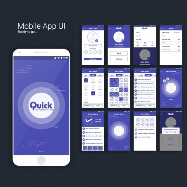 mobiele app ontwerp vector premium download