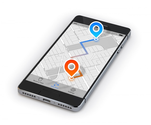 Mobiele navigatie voor smartphones Gratis Vector