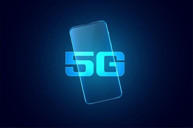 Mobiele supersnelle technologie van de vijfde generatie Gratis Vector