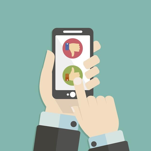 Mobiele telefoon achtergrond Gratis Vector