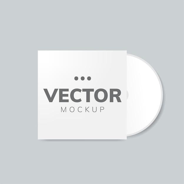 Mockup voor cd-hoesontwerp Gratis Vector
