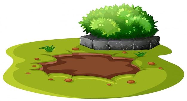 Moddervijver in de tuin Gratis Vector