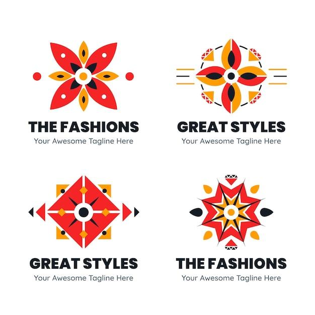 Mode-accessoires logo sjabloon collectie Premium Vector